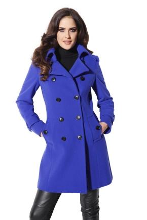 Синє пальто жіноче
