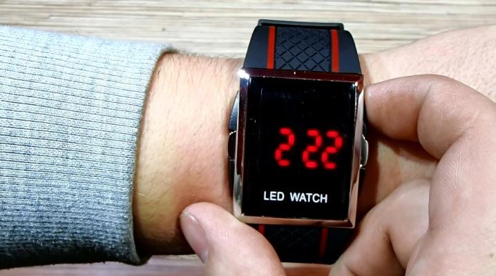 Світлодіодні наручні годинники
