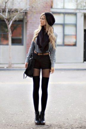 З чим носити чорні шорти?