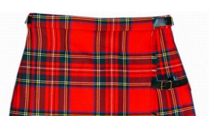 Шотландська спідниця в гардеробі модниць