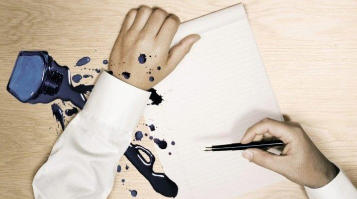 Чим відтерти чорнило від ручки?