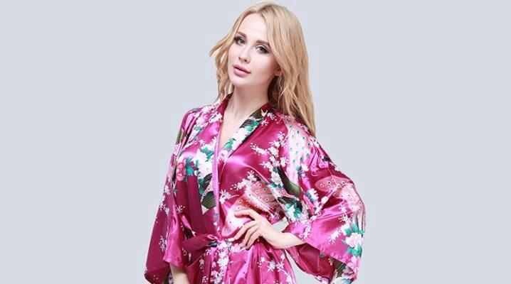 Гарний японський халат-кімоно для жінок