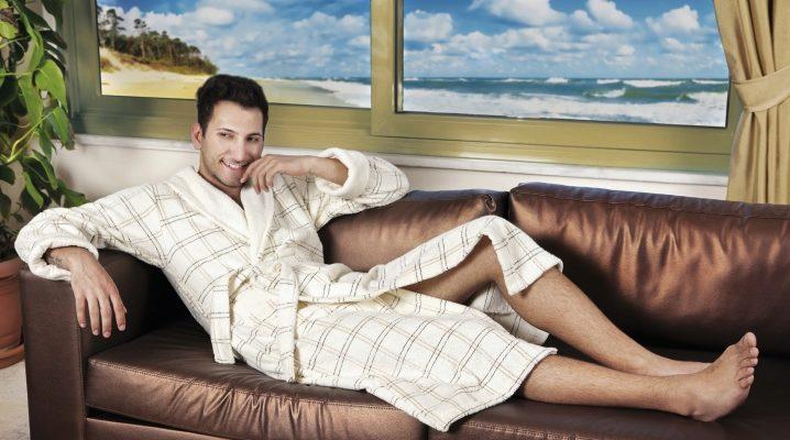Чоловічий махровий халат