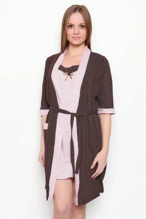 Жіночий комплект: халат і сорочка