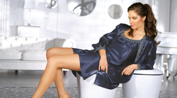 Жіночі пеньюари з халатом