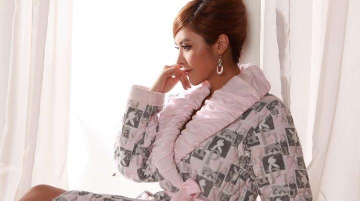 Стьобані халати для жінок