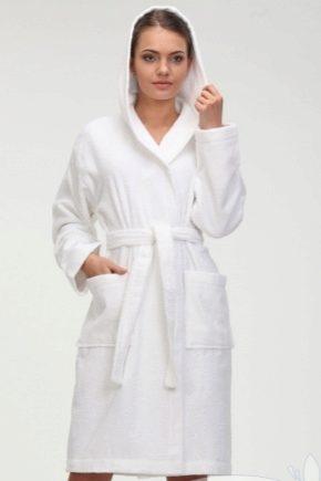 Жіночий білий махровий халат
