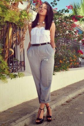 Сірі жіночі штани