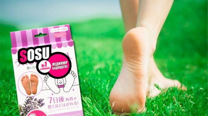 Японські шкарпетки SOSU для педикюру