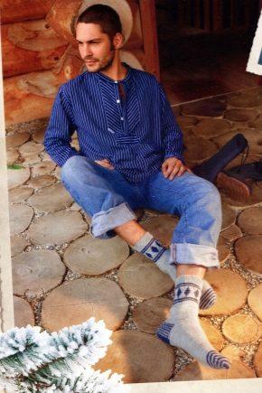 В'язані чоловічі шкарпетки
