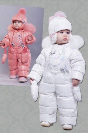 Дитячий зимовий комбінезон для дівчинки