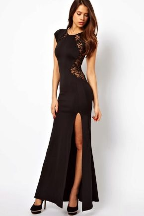 Чорне вечірнє плаття для справжніх леді!