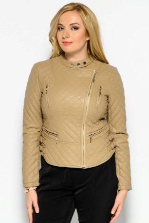 Жіночі шкіряні куртки великих розмірів