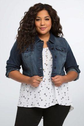 Жіночі джинсові куртки великих розмірів