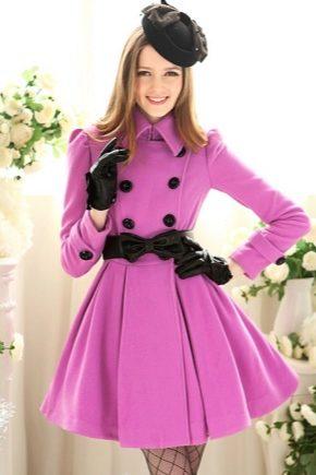Пальто для дівчинки-підлітка на осінь і весну