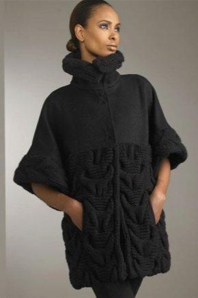 В'язане пальто з товстої пряжі
