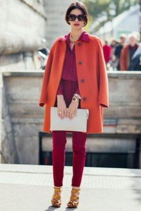 З чим носити помаранчеве пальто?