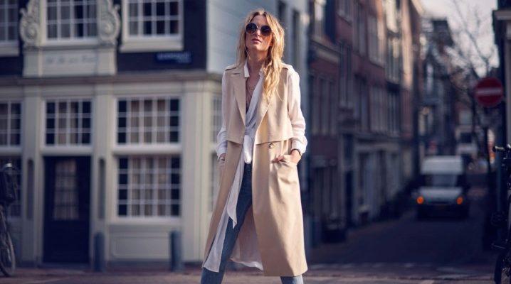 Пальто без рукавів