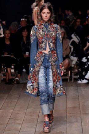 Жіноче пальто джинсове