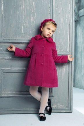 Дитяче вовняне пальто для дівчинки