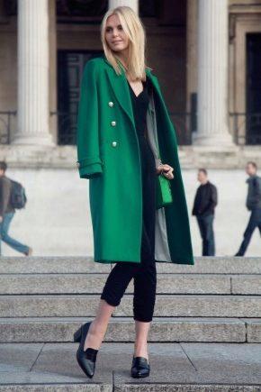 З чим носити зелене пальто?