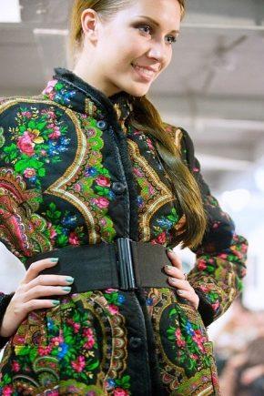 Пальто з павлопосадских хусток