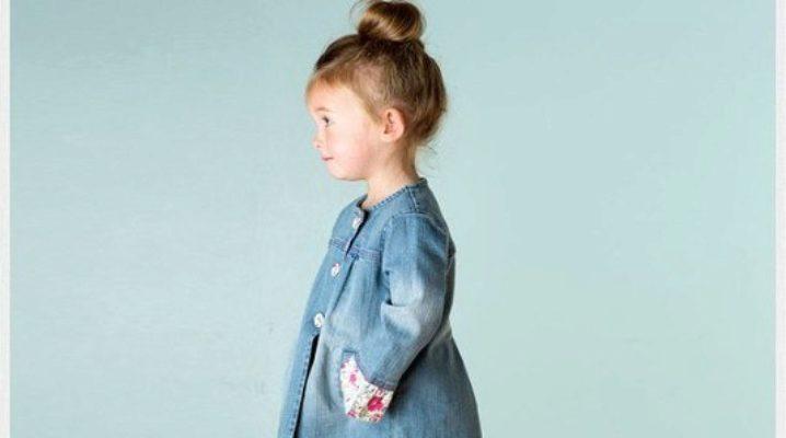 Джинсове пальто для дівчинки