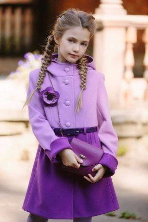 Пальто для дівчаток 7 років