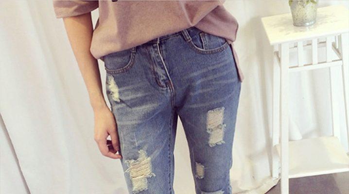 Як зробити модні дірки і потертості на джинсах