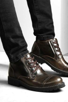 Чоловічі черевики на товстій підошві