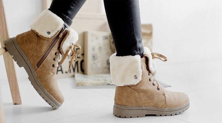 Шкіряні зимові жіночі черевики