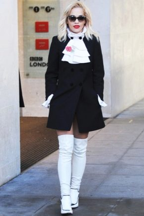 З чим носити білі ботфорти?