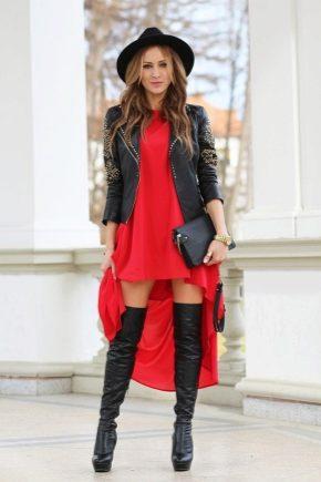 Як носити сукні з ботфортами?