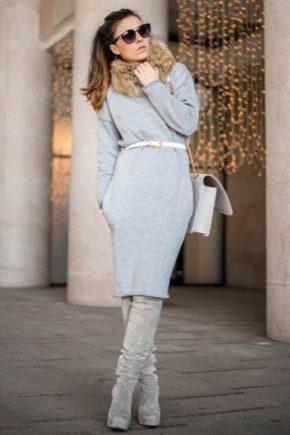 Сірі ботфорти – стильні образи