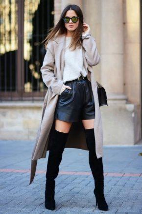 З чим носити чорні ботфорти?