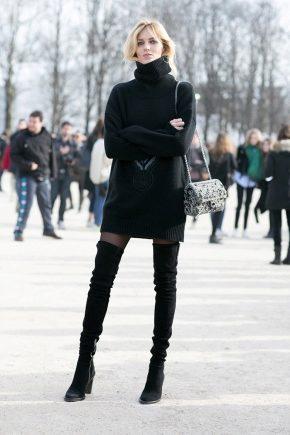 З чим носити чорні чоботи?