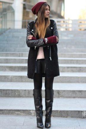 Зимові високі чоботи жіночі
