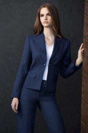 Сині і темно-сині жіночі костюми