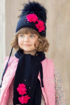 Шарф і шапочка для дівчинки