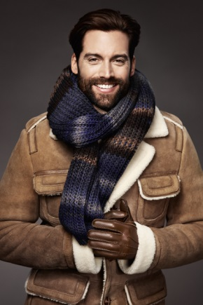Зимові шкіряні чоловічі рукавички