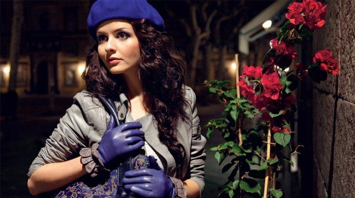 Жіночі зимові шкіряні рукавички