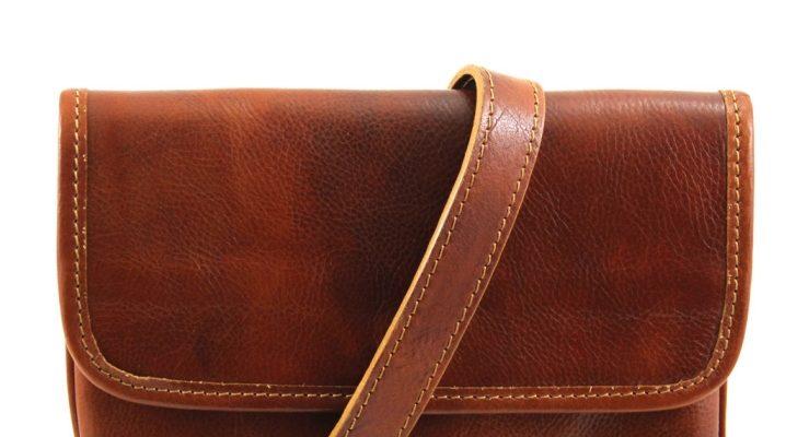 Модні чоловічі сумки через плече з натуральної шкіри