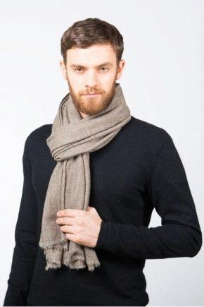 Кашеміровий чоловічий шарф