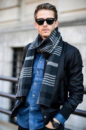 Як носити шарф чоловікові?