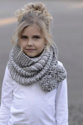 Дитячий шарф-снуд