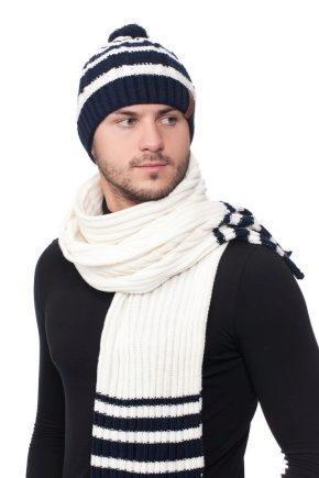Модні чоловічі комплекти з шапки і шарфа
