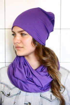 З чим носити фіолетовий шарф?