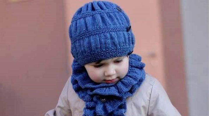 В'язаний шарф для дівчинки