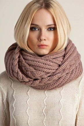 В'язаний шарф-хомут (снуд або шарф-труба)