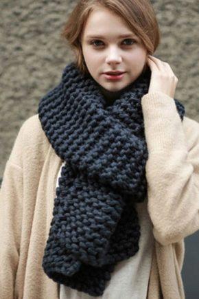 Жіночі в'язані шарфи